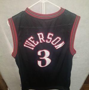 adidas Shirts - Adidas sixers Iverson Jersey L